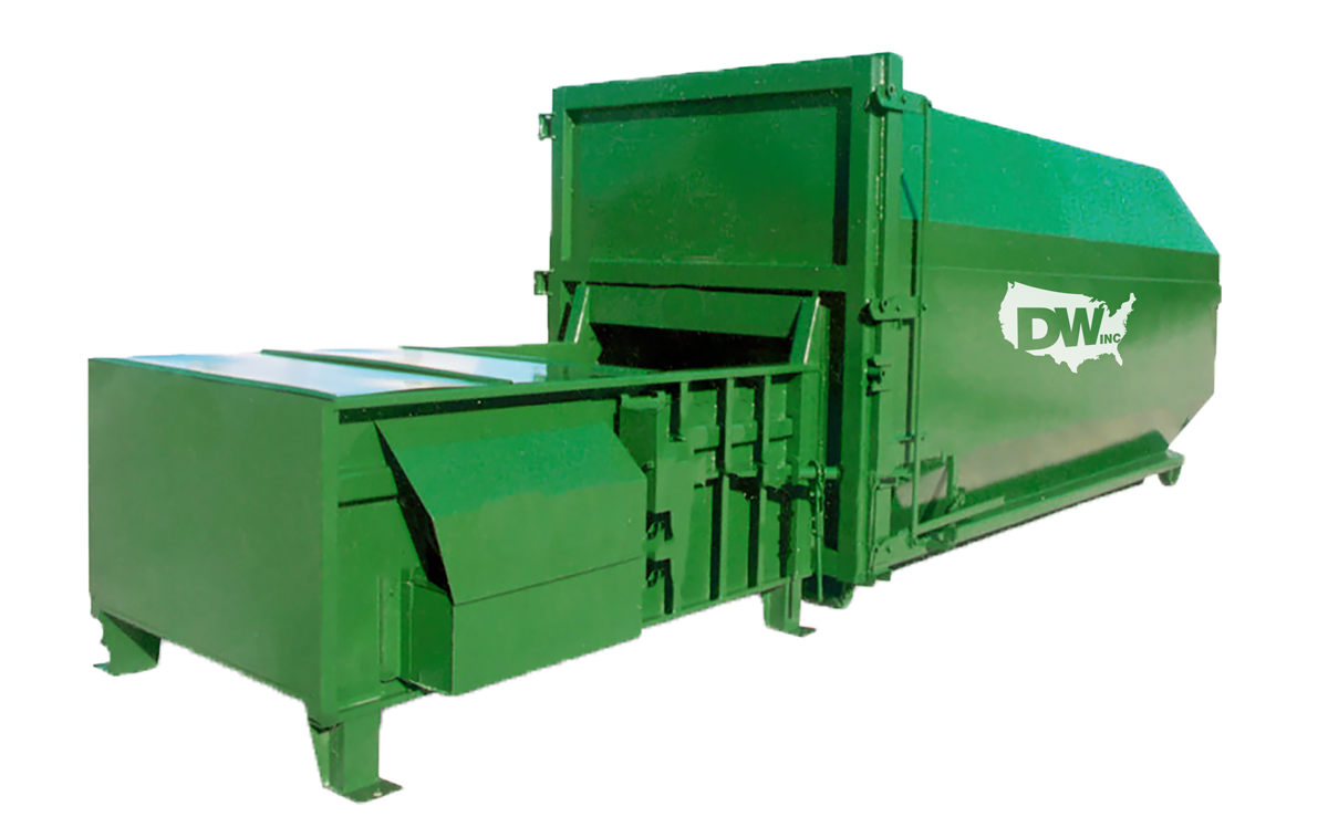 Stationary Compactor with Logo